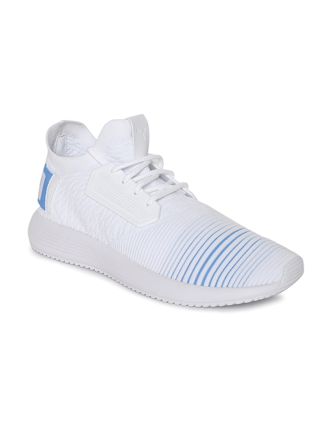 Puma Unisex White & Blue Uprise Color Shift Sneakers