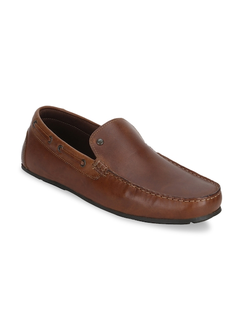 Red Tape Men Brown Leather Loafers