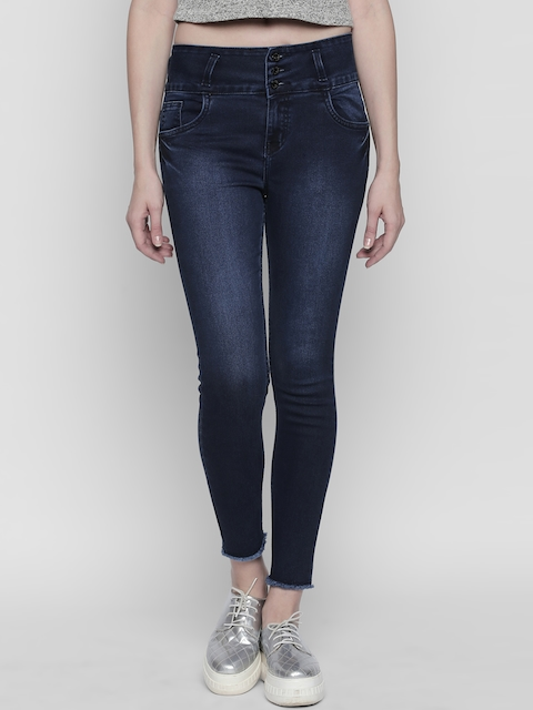 High Star Women Blue Slim Fit High-Rise Clean Look Stretchable Jeans