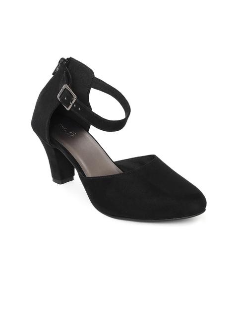 Inc 5 Women Black Solid Block Heels