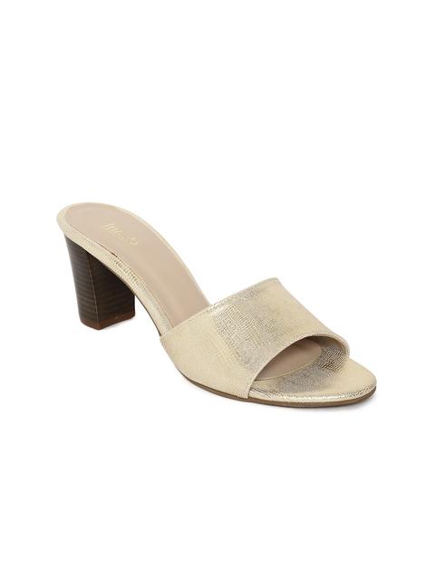 bdb34ed6a3e Inc 5 Women Gold-Toned Solid Block Heels