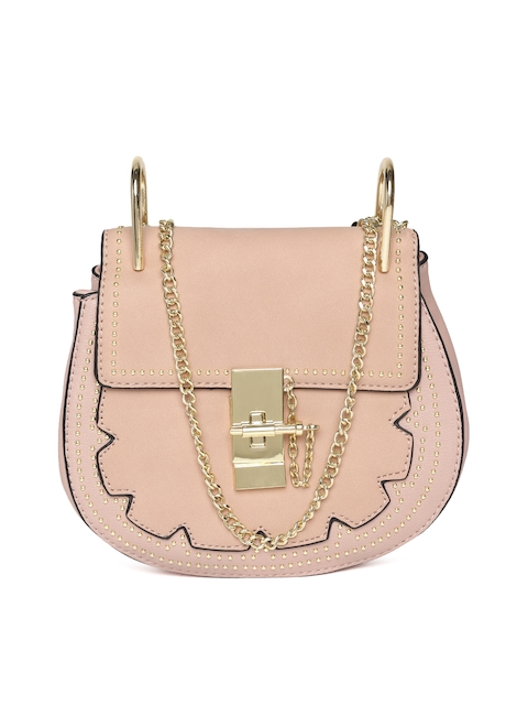 United Colors Of Benetton Dusty Pink Solid Sling Bag Image