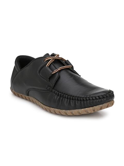 El Paso Men Black Slip-On Sneakers