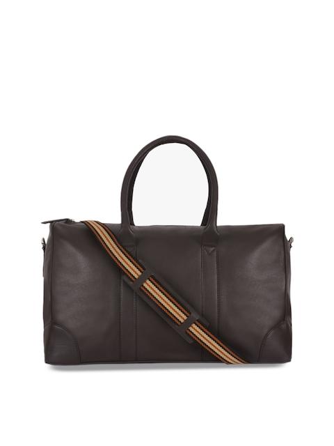 Phive Rivers Men Brown Leather Duffle Bag
