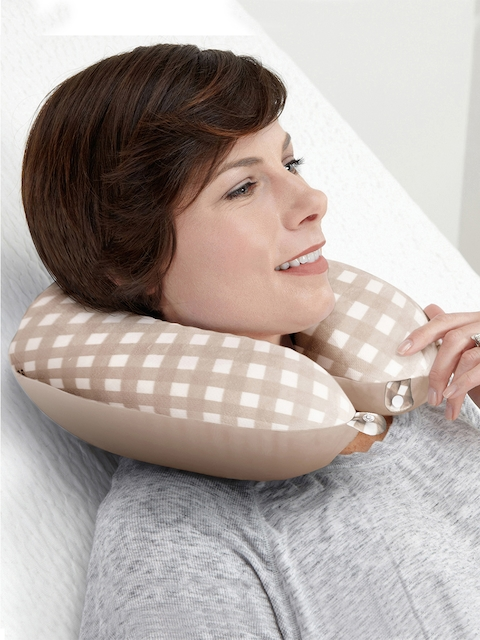 Story@home Unisex Beige Travel Neck Pillow