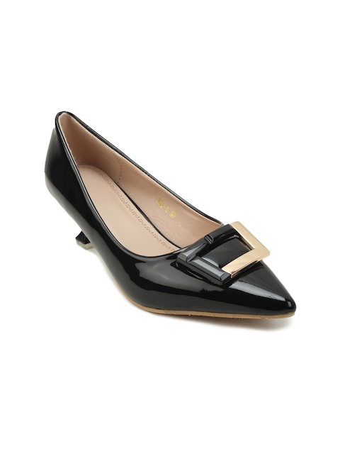 Lovely Chick Women Black Solid Pumps