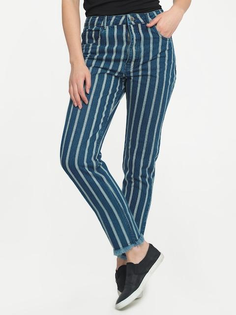 FREAKINS Women Blue Slim Fit High-Rise Clean Look Jeans
