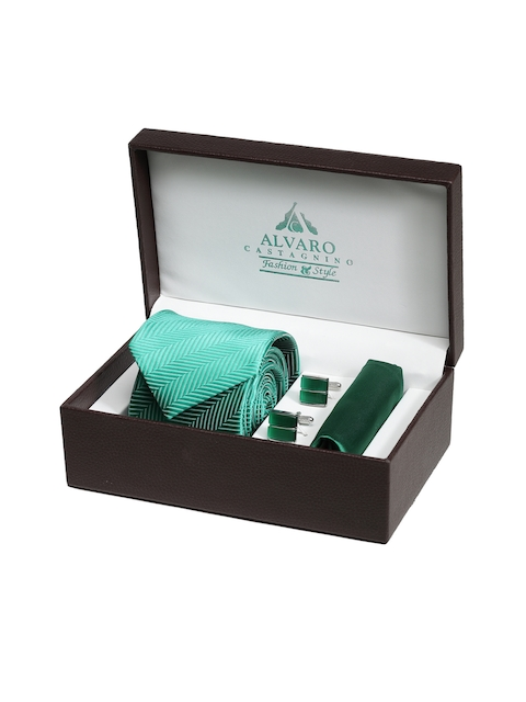 Alvaro Castagnino Men Green Accessory Gift Set