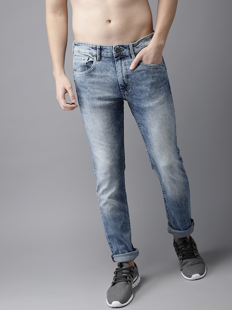 HERE&NOW Women Blue Slim Fit Mid-Rise Clean look Jeans