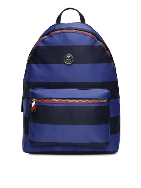 a3e54616f Tommy Hilfiger Women Navy Blue   Black Colourblocked Backpack