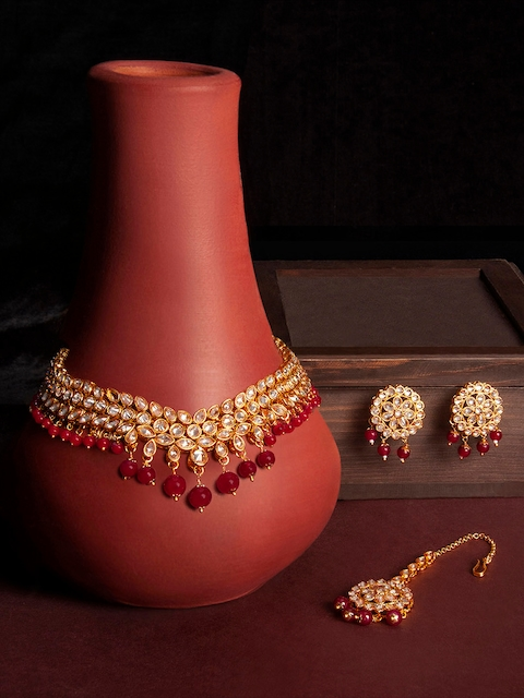 Rubans Gold-Plated Embellished Handcrafted Jewellery Set