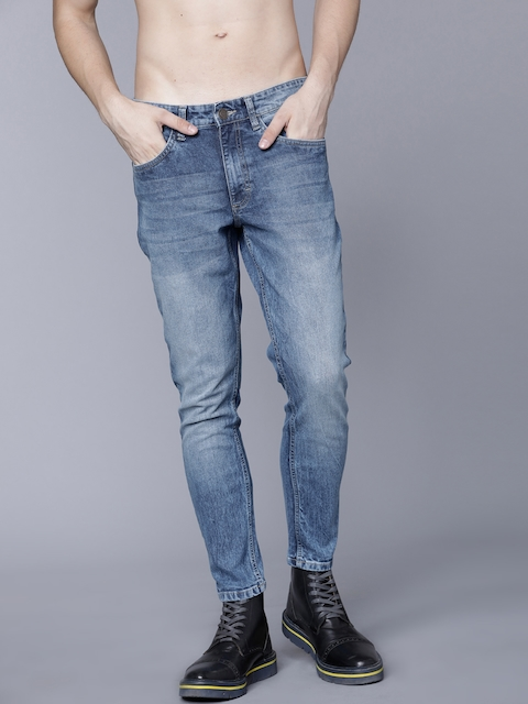 HIGHLANDER Men Blue Tapered Fit Mid-Rise Clean Look Stretchable Jeans 1