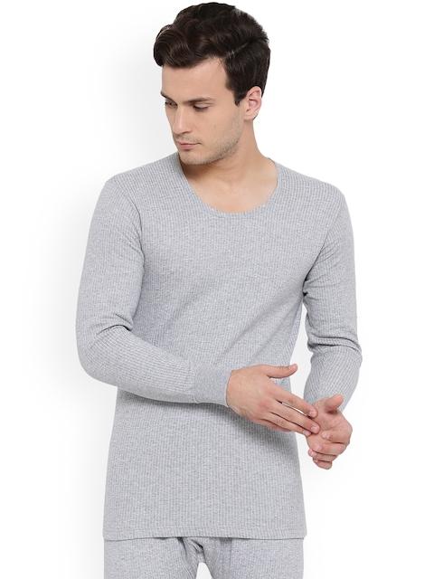 92545dbe22 Monte Carlo Men Grey Melange Solid Thermal Tops BBAPLMC67027 XL