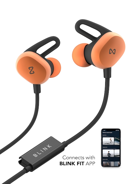 Blink Play - Tangerine Fitness Earphones