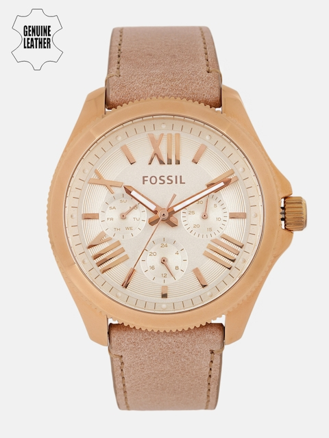 Fossil Women Cream-Coloured Factory ServicedAnalogue Watch AM4532