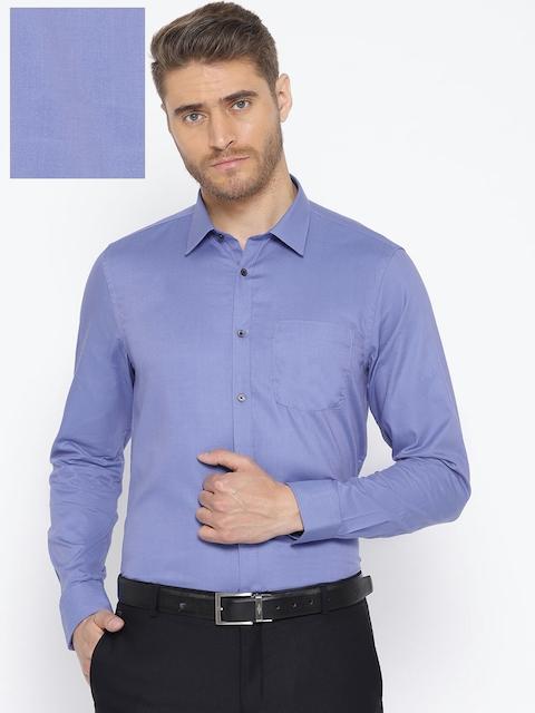 5125a16295af Blackberrys Men Blue Slim Fit Solid Formal Shirt
