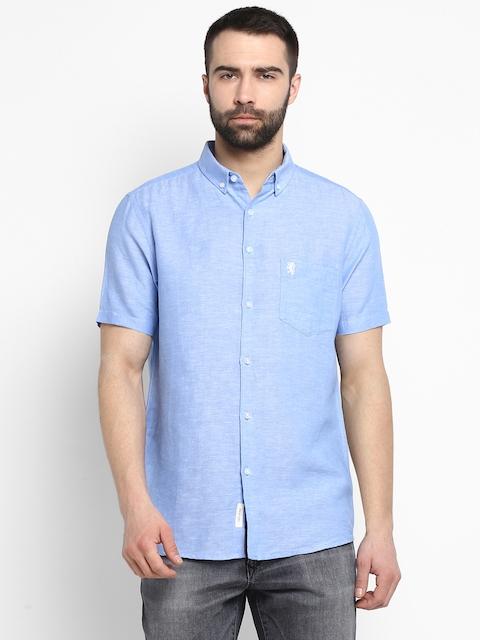 Red Tape Men Blue Regular Fit Solid Casual Shirt