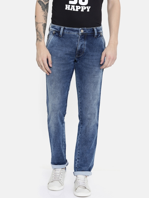 Lawman pg3 Men Blue Slim Fit Mid-Rise Clean Look Stretchable Jeans