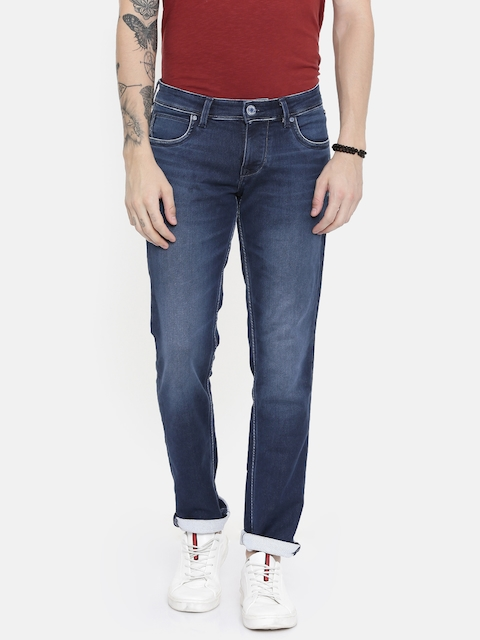 Lawman pg3 Men Blue Skinny Fit Low-Rise Clean Look Stretchable Jeans