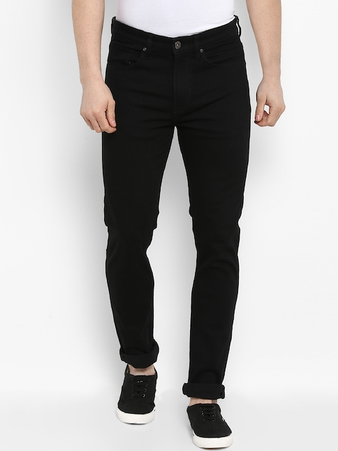 Red Tape Men Black Skinny Fit Mid-Rise Clean Look Stretchable Jeans