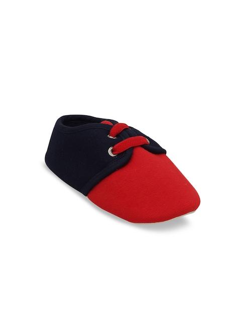 DChica Boys Red & Black Colourblocked Booties