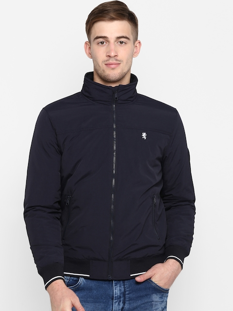 Red Tape Men Navy Blue Solid Padded Jacket