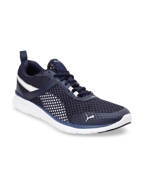 Puma Unisex Navy Blue Flex Essential Mesh Running Shoes
