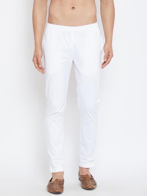See Designs Men White Solid Pyjama SDMDWPJ100