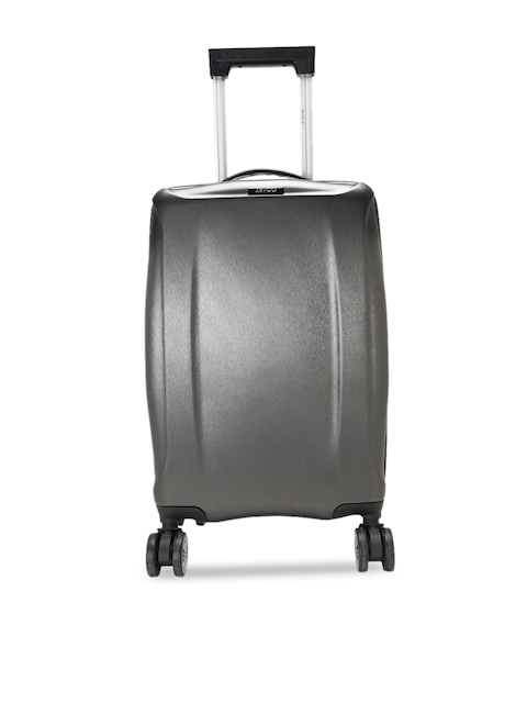ZEVOG Silver-Toned Solid Holiday Road Hard-Sided Large Trolley Bag