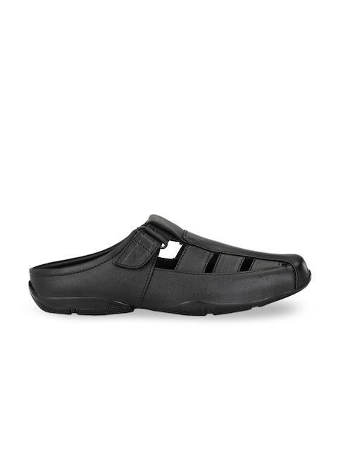 John Karsun Men Black Leather Sandals 3