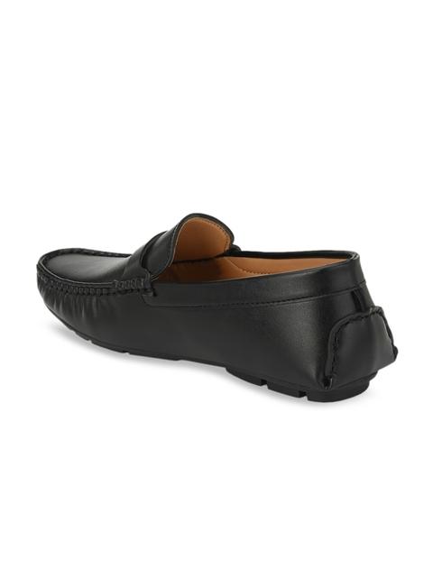 Provogue Men Black Solid Horsebit Loafers 2