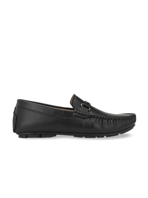Provogue Men Black Solid Horsebit Loafers 3