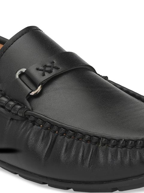 Provogue Men Black Solid Horsebit Loafers 5