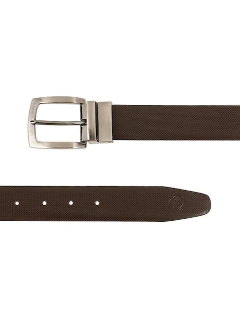 ZEVORA Men Brown & Black Textured Belt 6