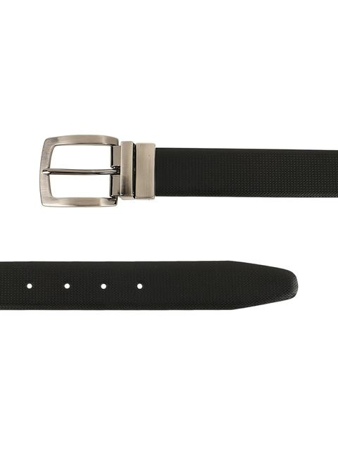 ZEVORA Men Brown & Black Textured Belt 7