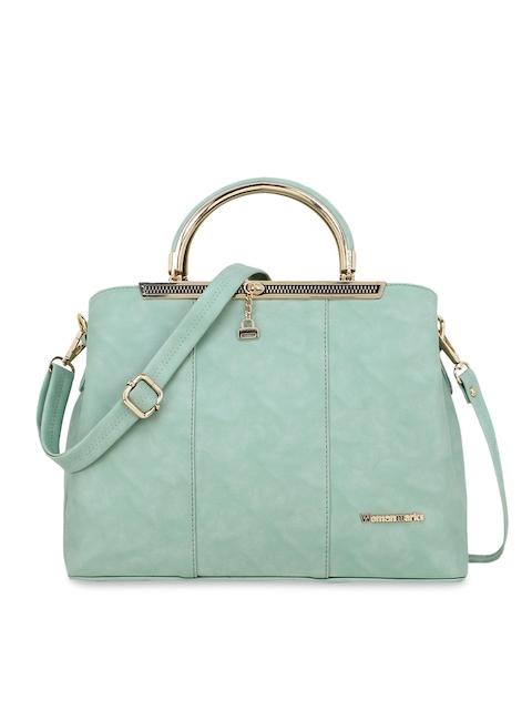 WOMEN MARKS Green Solid Handheld Bag