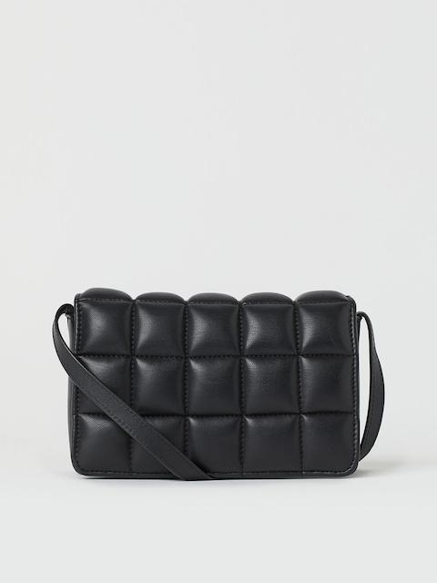 H&M Women Black Quilted Mini Bag
