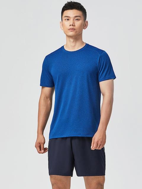 Domyos by Decathlon Men Navy Blue Regular-Fit Fitness Shorts