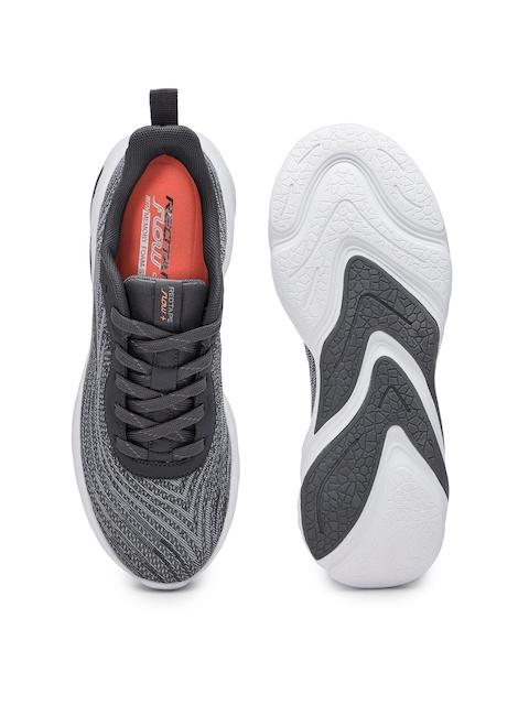 Red Tape Men Grey Mesh Walking Shoes 4