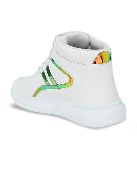 AfroJack Men White Printed Sneakers 2