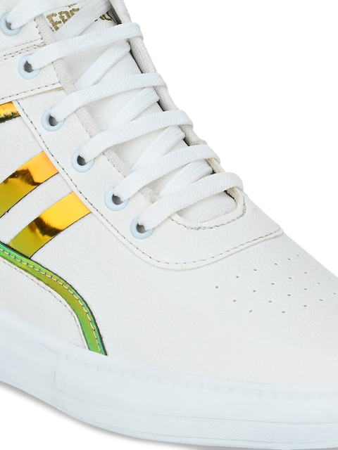 AfroJack Men White Printed Sneakers 5