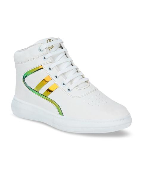 AfroJack Men White Printed Sneakers 1
