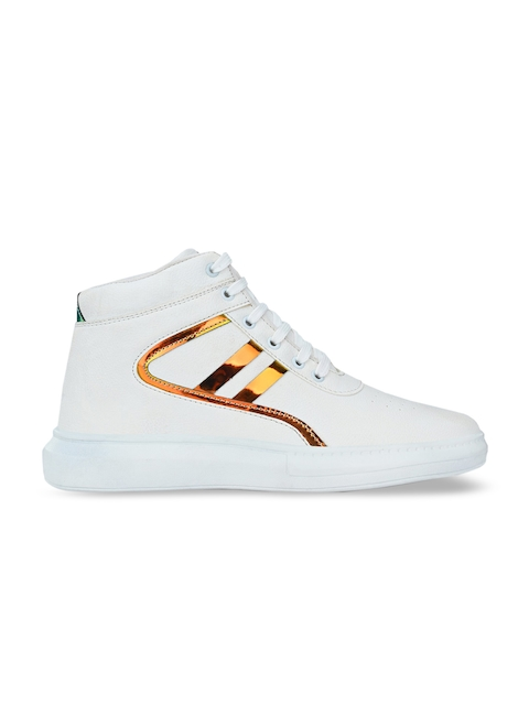 AfroJack Men White Printed Sneakers 3