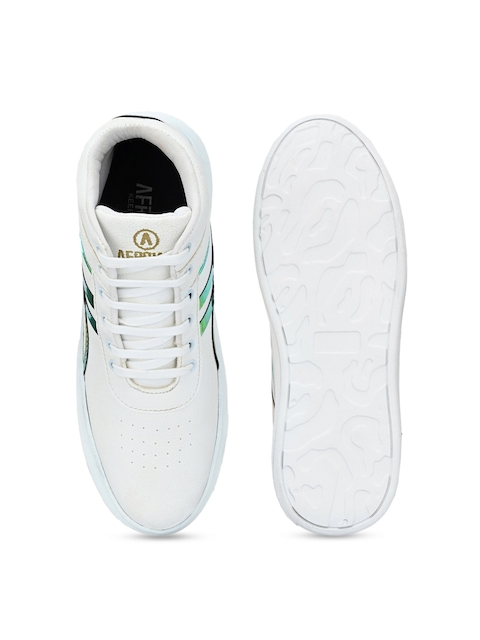 AfroJack Men White Printed Sneakers 4