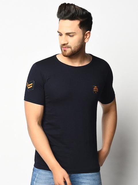 ELEGANCE Men Pack Of 2 Maroon & Navy Blue T-shirts 3