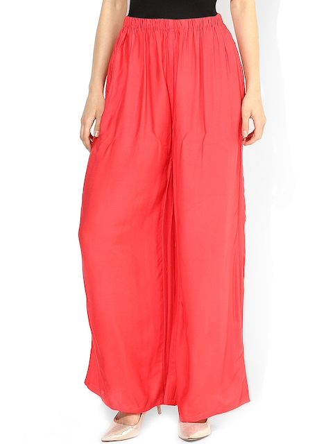 Castle Coral Pink Palazzo Trousers