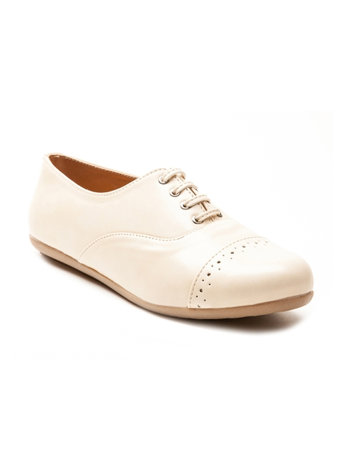 Marc Loire Women Cream-Coloured Casual Shoes