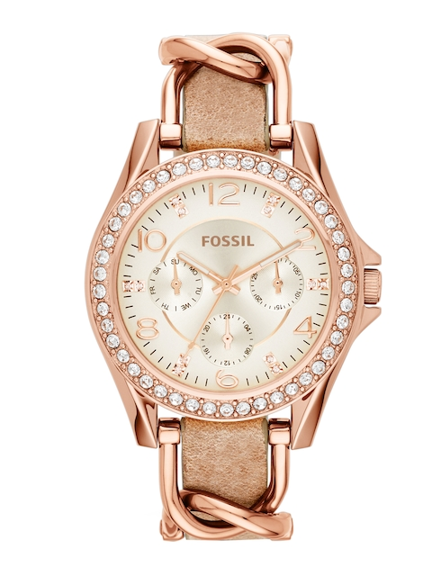 Fossil Women Off-White Dial Watch ES3466