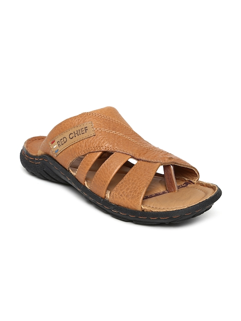 Red Chief Men Brown Leather Sandals  available at myntra for Rs.1990