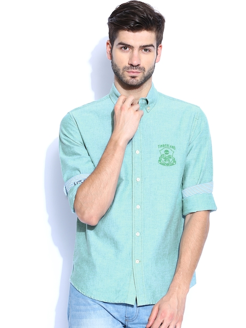 Timberland Men Green Slim Fit Casual Shirt